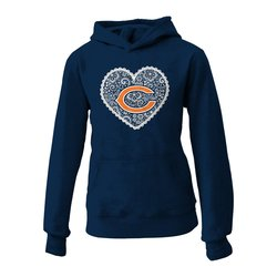 NFL Chicago Bears Youth Fleece Hoodie - Deep Obsidian - Size:Large (10/12)