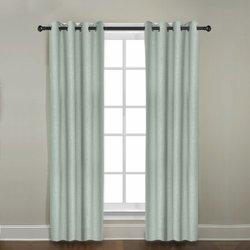 "Veratex 96"" x 50"" Gotham Window Grommet Panel - Mineral Blue"