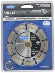 """Norton Valuplus Diamond Blade, 4-1/2"""" Diameter x 0.250"""" Thickness x 7/8-5/8-20mm, 0.275"""" Segment (Pack of 1)"""