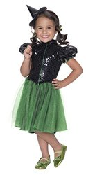 Rubie's Costume Wizard of Oz Wicked Witch Sequin Dress Child Costume, Small
