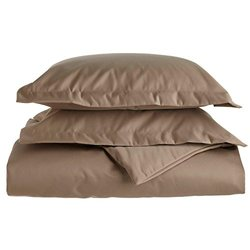 1500 Thread Count Duvet Cover Set - Taupe - King/California King