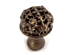 "Carpe Diem 1-1/4"" 138-3 Juliane Grace Cabinet Knob - Antique Brass"