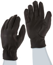 Ansell ActivArmr 46-308 Premium Deerskin Leather Thinsulate Lined Driver's Utility Glove with Keystone Thumb, Work, Small, Black (1 Pair)