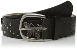 Relic Women's Butterfly Ornament Belt, Black, Medium