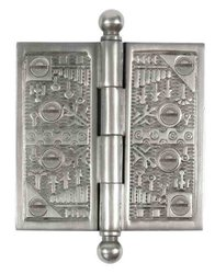 "Brass Elegans 3.5"" Solid Brass Windsor Door Hinge w/ Brass Screws - Pewter"