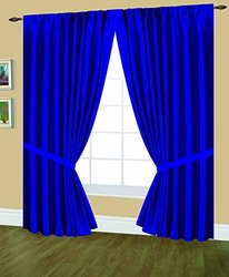 Editex Home Textiles Elaine Lined Pinch Pleated Window Curtain, 144 by 63-Inch, Navy
