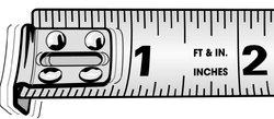 "1"" x 33' Engineer's Hi-Viz  Orange P1000 Tape Measure"