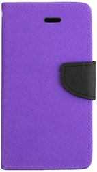HR Wireless Premium PU Leather Flip Wallet Case - Purple(WC3-ZTEN9515-Prp)