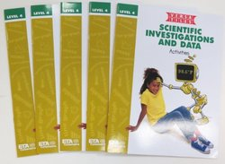 ETA hand2mind VersaTiles Scientific Investigations and Data Grade 4 Activity Book, Set of 5