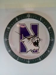 NCAA Northwestern Wildcats Game Clock