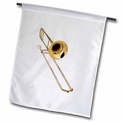 3dRose Trombone, Garden Flag, 18 by 27-Inch