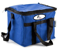 """Pampered Pets 9"""" x 11"""" Soft Sided 24 Can Insulated Cooler Bag - Blue"""