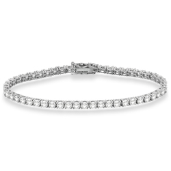 Menpura Women's Eternity Tennis Bracelet - White Gold