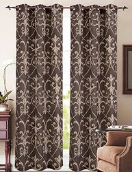RT Designers Collection Blake Canvas Grommet Window Curtain Panel (Set of 2), 38 x 84""