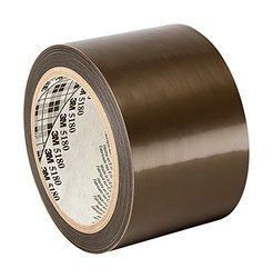 "3M 5180 3.78"" x 36yd Gray General Purpose PTFE Skived Film Tape -65 to 500 degrees F Performance Temperature, 0.0035"" Thick"
