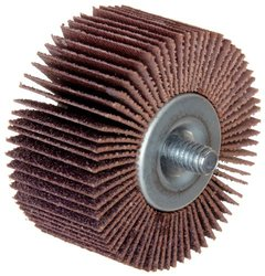 "Merit High Performance Quick-Change Mini Grind-O-Flex Abrasive Flap Wheel, Threaded Shank, Ceramic Aluminum Oxide, 1"" Dia., 5/8"" Face Width, Grit 60, 30000 Max RPM (Pack of 10)"