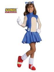 Sonic Boom Girls Halloween Costume - Blue - Small