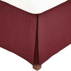 Calvin Klein Carmen Small Diamond Bed Skirt - Cerise - Sz: California King