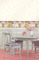 York Wallcoverings York Kids IV Tea Party Border - Multi/Pink Band