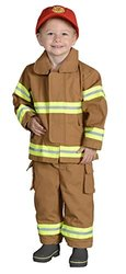 Aeromax Jr. NEW YORK Fire Fighter Suit, Tan, 18 Months.  The best #1 Award Winning firefighter suit.  The most realistic bunker gear for kids everywhere.  Just like the real gear!