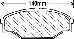 Beck Arnley Premium Brake Pads (082-1474)