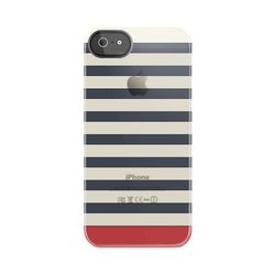 Tokyo Stripe Frosted Deflector Hard Case for iPhone 5/5S - Blue/White/Red