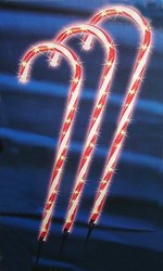 """Sienna 28"""" Lighted Candy Cane Pathway Markers Outdoor Christmas - 3-Pack"""