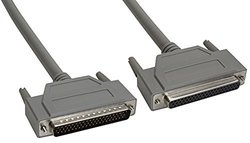 Amphenol CS-DSDHD62MF0-015 62-Pin HD62 Deluxe D-Sub Cable, Shielded, Male/Female, 15', Gray