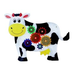 Anatex Cow Activity Wall Panel for Homes / Doctors Offices & Waiting Rooms