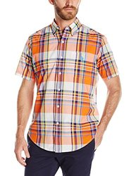 U.S. Polo Assn. Men's Madras Plaid Sport Shirt