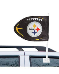 Pittsburgh Steelers NFL Car Flag black
