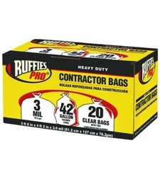 42gl/20ct Contrctr Bags 618898 clear