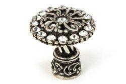 Carpe Diem Hardware 873-9C 1-1/4-Inch  Cache Chalice Knob  with Swarovski Crystals