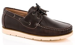 Franco Vanucci Men's Brian-15Boat Shoes - Brown - Size: 10.5M
