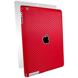 BodyGuardz  Carbon Fiber Armor Full Body Skin For New iPad 3rd Gen, Red