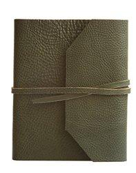 Eccolo Italian Leather Frieri Journal - Hunter Green