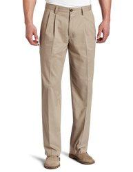 Dockers Men's Big & Tall Classic Pleated Pant-New British Khaki - 44W-32L