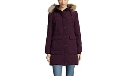 Arctic Expedition Patch Down Parka with Fur Trim - Blackberry - Size: Small