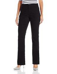 Gloria Vanderbilt Women's Charleen No Gap Pants - 12 - Black