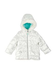 Carter's Baby/Toddler Girl's White Foil Print Puffer Jacket - Size: 18M