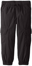 Nautica Little Boys' Pull On Jogger Cargo Pockets - Black - Size: 6