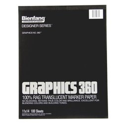 Bienfang 11-inch x 14-inch Graphics 360 Marker Paper (100 Sheets)