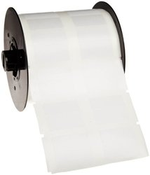 """0.75"""" x 0.50"""" B-427 Cable and Wire Labels - White/Clear - 4000 ct/ Roll"""