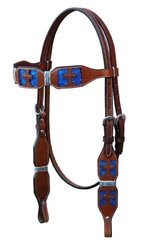 Turn-Two Equine St. Gabriel Browband Headstall - Blue