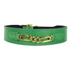 Hartman & Rose Central Park Dog Collar, 8 to 10-Inch, Kelly Green
