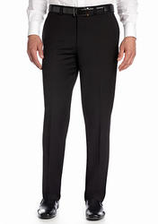 "Calvin Klein Men's Solid Flat Front Finished Pants - Black - Size: 32""x32"""