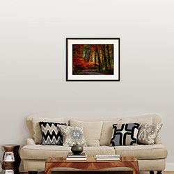 """Art.com Colorful Way by Philippe Sainte-Laudy Framed Photographic Print, 25 x 31"""", Red"""