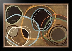 "Art.com 14 Friday II-Brown Circle Abstract - 24 x 34"" - Brown"