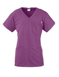 Medline Berkeley Ave. Women's Scrub Top - Purple  - Size: XS