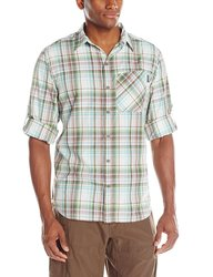 Columbia Men's Insect Blocker Plaid Long Sleeve Shirt - White - Size: L